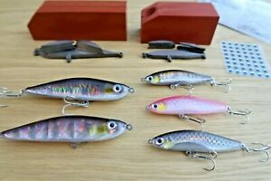 Two DIY hard lure kits 7.5cm and 10cm molds + steel blanks + 3D eyes + foil