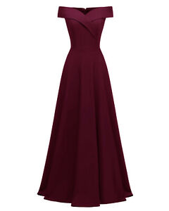 Sexy Women Long Prom Dress Off Shoulder Cocktail Party Evening Dresses ZG9