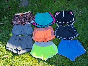 HUGE LOT OF 9 Nike Under Armour Women's Small DriFit Running Athletic Shorts