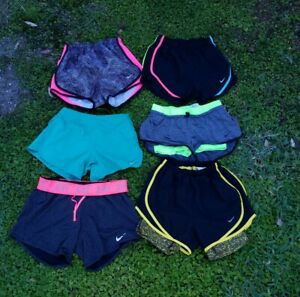 HUGE LOT OF 6 Nike Women's XS DriFit Lined Tempo & Running Athletic Shorts