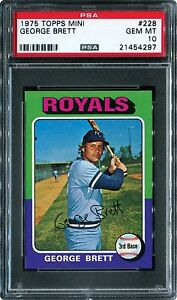 1975 Topps Mini George Brett ROOKIE #228 PSA 10 GEM MINT