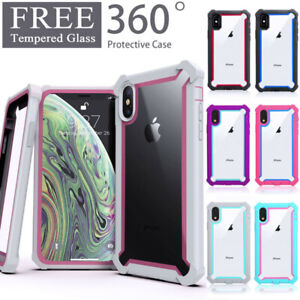 For iPhone 11 Pro XR XS MAX 6 7 8 Clear Case Cover Shockproof Heavy Duty Hybrid