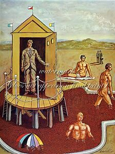 GIORGIO de CHIRICO Painting Poster or Canvas Print quot;The Mysterious Bathquot;
