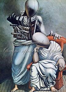 GIORGIO de CHIRICO Surreal Painting Poster or Canvas Print quot;The One Consolationquot;