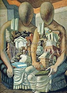 GIORGIO de CHIRICO Surreal Painting Poster or Canvas Print quot;The Archaeologistsquot;