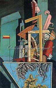 GIORGIO de CHIRICO Painting Poster or Canvas Print quot;The Melancholy of Departurequot;