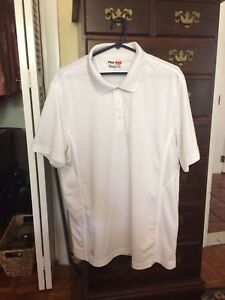 FILA SPORT SHIRT FOR MEN ALL WHITE SIZE XL 100% QUICK DRY POLY GREAT COND. $4.99