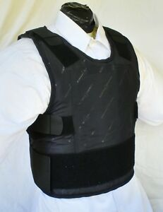 Med IIIA Lo-Vis Concealable Body Armor Carrier BulletProof Vest with Inserts