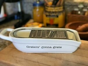 Pier 1 Graters' gonna grate Flat Laying Cheese Grater Slicer New!