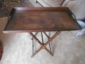 Gorgeous Knob Creek Burled Walnut Serving Tray with Stand
