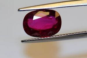 RUBY  UNHEAT 4cts+ PLUS COLLECTORS ITEM GORGEOUS OVAL