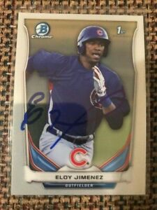 ELOY JIMENEZ Signed 2014 Bowman Chrome Draft rookie card AUTO White Sox qty
