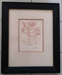 Dali Artist Proof (EA) 1967 Etching Henry Wadsworth Longfellow 5 Americans Suite