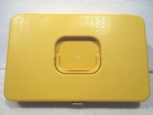 Golden Yellow Sewing Case Wil Hold Wilson Mfg USA Holds 48 Spools 12 Bobbins $15.00