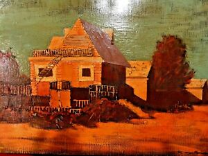 VINTAGE OIL ON CANVAS PAINTING BY ARMENIAN ARTIST SAMVEL STEPANIAN SIGNED LISTED
