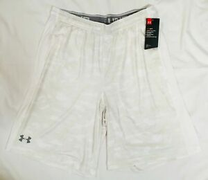 Under Armour Shorts Mens XL or 2XL White Camo Authentic New UA Heatgear Loose