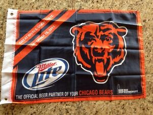 NEW Chicago Bears NFL FOOTBALL TAILGATE FLAG MILLER LITE Beer