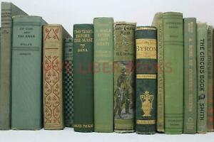 Lot 5 of GREEN / Shades of Green - Old Vintage Antique Rare - Hardcover - Random