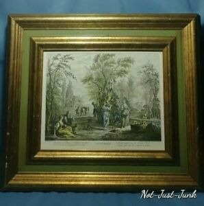 Vtg. ITALIAN Etching quot;SETTEMBREquot; Turner Wall Accessory Chicago Ill. 1960s 70s $50.00