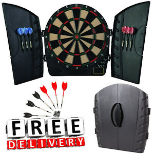 Electronic Dart Board Arachnid Cabinet Door Set Kit Indoor Game Party Adult Fun