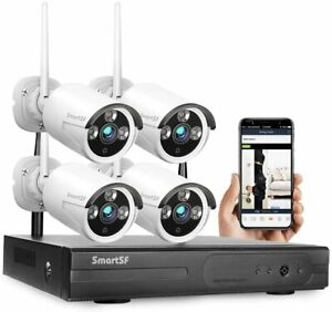 SmartSF 8CH Security Camera System Wireless 1080P NVR Outdoor Indoor WiFi CCTV