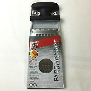 FARBERWARE~Hand held Course Flat Cheese Grater New In Pkg Super sharp grater