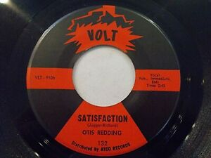 Otis Redding Satisfaction / Any Ole Way 45 1966 Volt Vinyl Record