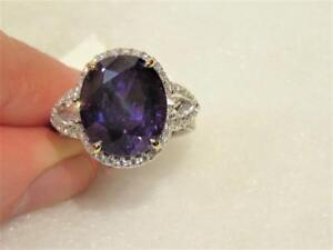 $108000 RARE LRG 18KT GIA FLAWLESS FANCY PURPLE EMPRESS SAPPHIRE RING T.W. 16CTS