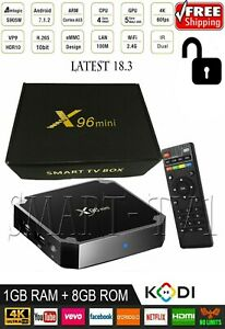 X96mini Smart Android 7.1.2 TV Box Amlogic S905W Quad Core HD H.265 18GB X6U2