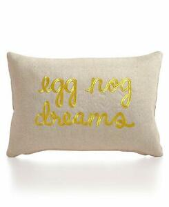 Celebrate Shop 20 x 13-in Eggnog Dreams Decorative Throw Pillow, Taupe Brown