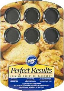 Perfect Results Premium Non-Stick Muffin Top Pan 12-Cup  070896368782