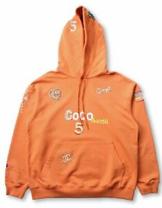 Chanel x Pharrell Hooded Sweatshirt - Orange - Large (NEW)
