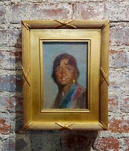 Portrait of a Native American Woman Oil painting $1200.00