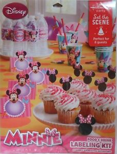 Party Labeling Kit Disney MINNIE MOUSE Food & Drink Birthday Supplies