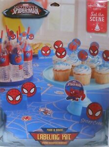 Party Labeling Kit SPIDER-MAN Ultimate Marvel Food & Drink Birthday Supplies