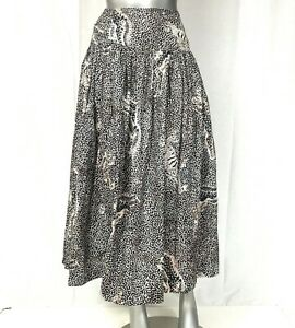 Escada Margaretha Ley Wrap Skirt Size 42 designer animal Couture W Germany Maxi