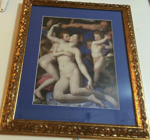 BEAUTIFUL FRAMED NAKED FEMALE PORTRAITS VENUS WITH ANGLE ART COLLECTIBLE ITEM $299.99