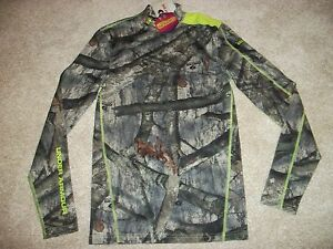 UNDER ARMOUR New NWT Mens Mossy Oak Compression Cold Gear Camo Camouflage Shirt $49.90