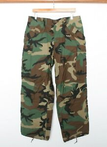 Vintage 1985 Woodland Camo Army Military Cold Weather Field Pants Sz. M Regular
