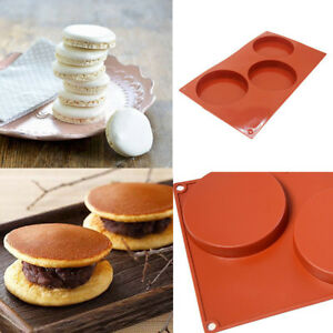 3 Cup Large Silicone Mold Bun Muffin Non Stick Baking Tray Cake Pudding Mould US