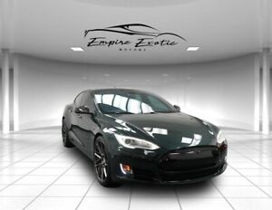 2014 Model S Performance CHECK OUT THESE WHEELS! 33000 Miles! 2014 Tesla Model S Green Metallic with 33107 Miles available now!