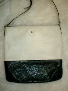 Kate Spade New York Cross-body bag Leather Black Off-White