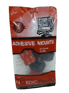 Nordic Flash 6 Piece Adhesive Mounts for GoPro Cameras Fits Most 3 Flat 3 Curved