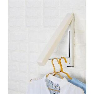 Stainless Steel Foldable Drying Home Wall Mounted Laundry Rack Folding Hanger WE