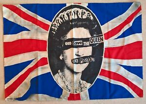 The Sex Pistols -God Save The Queen-Original 1977 promotional flag by Jamie Reid