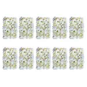 10pcs Artificial Flower Wall Panels for Wedding Party Photo Prop 60 x 40cm