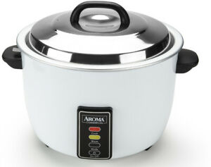 60-Cup Commercial Rice Cooker Large Non-stick Stainless Steel Warmer Restaurant