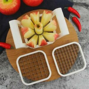 3 In 1 Stainless Steel Apple Potato Fry Cutter Slicer Corer for Fries Tools WE
