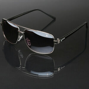 Square Frame Aviator Glasses Retro Vintage Fashion Men Women Driving Sunglasses $9.99