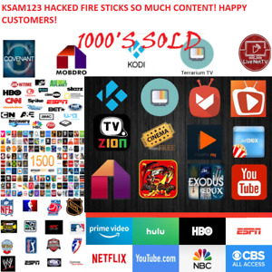 Amazon Fire TV Stick 4k Hacked newest gen April 2019 build newest alexa remote